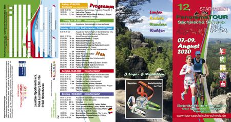 Der Flyer zur 12. Sparkassen Panoramatour 2020 Seite 1 bis 4